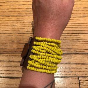 Fair trade wooden beaded bracelet